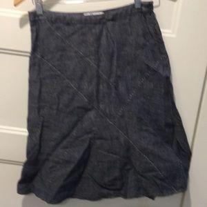 CAbi a line linen skirt 0